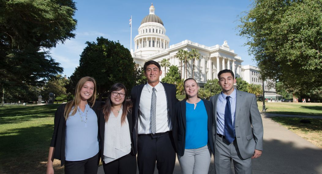 students at the capitol in Sacramento